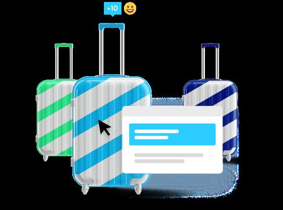 Transforme os seus viajantes em embaixadores da marca.